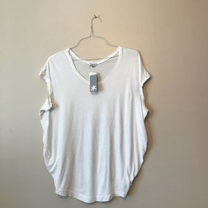 Splendid Anthropologie oversized white tee t-shirt